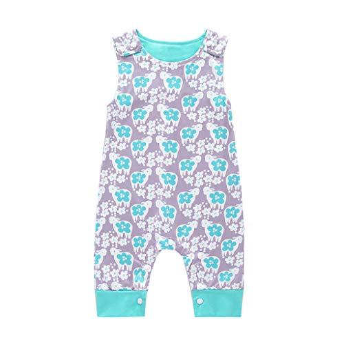 Schlafsack Baby Mädchen patchen Baby ärmelloses Cartoon-Overall grau 90