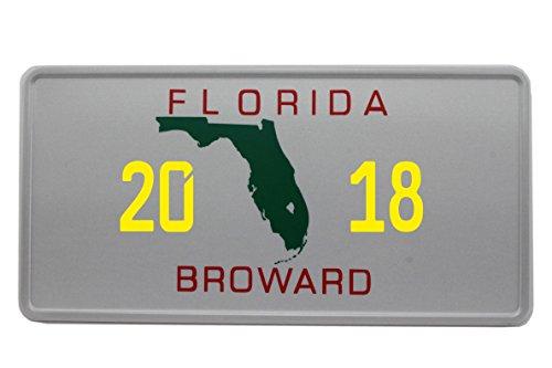 US Auto Kennzeichen STATE LICENSE PLATE Schilder USA Florida 1 mit Wunschprägung (gelb)