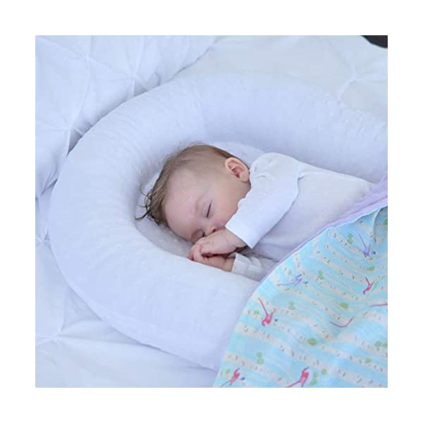 Mr.LQ Crib Bed Removable And Washable Portable Washable Uterine Bionic Bed,color2,80x50cm  ☀100% cotton fabric and breathable, hypoallergenic internal filler, which is safe for baby's sensitive skin. It will give your child serene, safe, and sound sleep in their lovely co sleeper bassinet. ☀Being adjustable, the side sleeper grows with your baby. Simply loosen the cord at the end of the bumpers to make the size larger. The ends of the bumpers can be fully opened. ☀Use the infant nest as a bassinet for a bed, baby lounger pillow, travel bed, newborn pillow, changing station or move it around the house for lounging or tummy time, making baby feel more secure and cozy. The lightweight design and easy-to-use package with handle make our newborn nest a portable baby must-have. 3