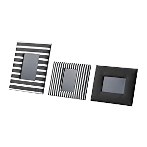 IKEA asarna-Cadre, lot de 3, noir, blanc