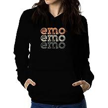 Sudadera con capucha de mujer Emo repeat retro