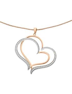 Orphelia Damen Halskette Silber vergoldet Zirkonia weiß ZH-6080
