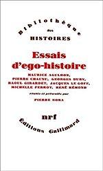 Essais d'ego-histoire de Maurice Agulhon