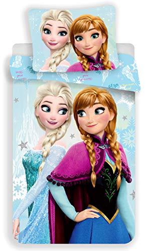 Reine des Neiges Frozen Blue–Juego de Cama Funda nórdica de Cama 1Persona