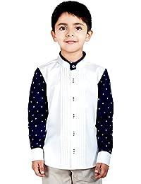 Naughty Ninos White Pintuck Full Sleeve Dress Shirt