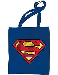 DC Comics - Superman Retro Jutebeutel Shopper Tasche - Superman Logo
