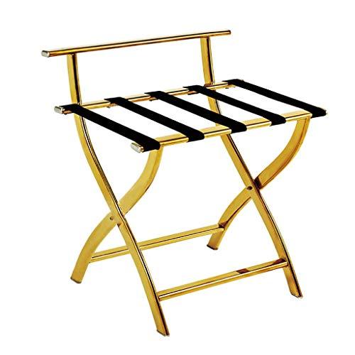 Q-rack Gepäckträger Koffer Rucksäcke Stehen Faltbare Metall Design for Zuhause Schlafzimmer Reise mit Rückenlehne L60 x B47 x H66cm (Color : A) -