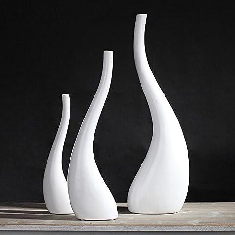 Homestia In ceramica fatti a mano Vaso opaco Glaze astratta Minimalismo arte Set di 3