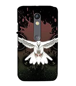 99Sublimation Flying white Pigeon 3D Hard Polycarbonate Back Case Cover for Motorola Moto X Force :: Dual SIM