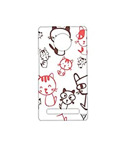 Vogueshell Cartoon Cats Printed Symmetry PRO Series Hard Back Case for YU Yuphoria
