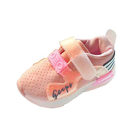 Malloom-Bekleidung Herbst-Kleinkind-Sport-laufende Babyschuh-Jungen-Mädchen LED leuchtende Schuh-Turnschuhe (Schuhe Pepe Baby)