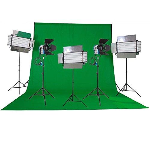 HWAMART ® (Home video) Kit 2x1000W Fresnel Tungsten Lichter 3xFluorescent 6 Bank light 30qm Home-Studio Home-Video - Tungsten Light Kit