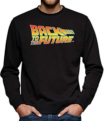 Zurück in die Zukunft Logo Sweatshirt Pullover Herren M Schwarz