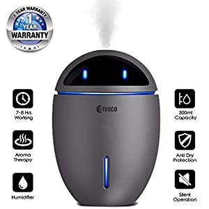 Tesco EVA Cool Mist Humidifier Aroma Diffuser Air Purifier with fan for car Spa Home Office - 300 ml