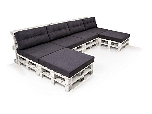 PALETTI Sofalandschaft Sofa aus Paletten Fichte, Fichte weiss