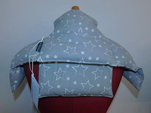 4 in 1 Wärmekissen Dinkelkissen Körnerkissen Sterne grau