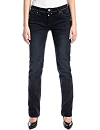 Timezone Damen Straight Jeans Tahilatz