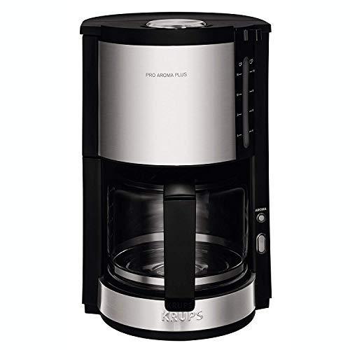 Krups KM321 Proaroma Plus Glas-Kaffeemaschine, 10 Tassen, 1100 W, modernes Design, schwarz mit Edelstahlapplikationen - Krups Pumpe