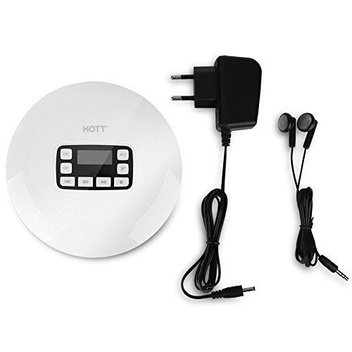 Zerone Altavoz portátil Bluetooth HiFi Reproductor de CD, HoTT Compacto de música...