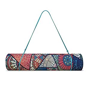 Trideer Extra Thick Yoga Mat, Reversible Premium Printed Non-Slip Anti-Tear 6mm Floor Pilates Exercise Mat for Yoga, Workout, Fitness, Camping, Physio, Home-use, Sports, Stretching with Carry Strap (Enchanting Rococo)