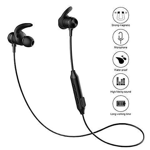 Bluetooth Sport Kopfhörer, NATUCE Ultra Light Wireless Bluetooth V4.2 Laufen Kopfhörer, Tragen Komfort Sweatproof Wasserdichte Ohrhörer für iPhone Samsung Huawei LG,