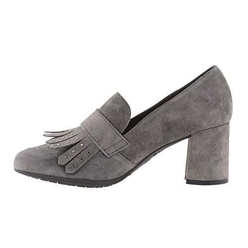 Wonders Chaussures I-6911 Peau Merveilles Gris