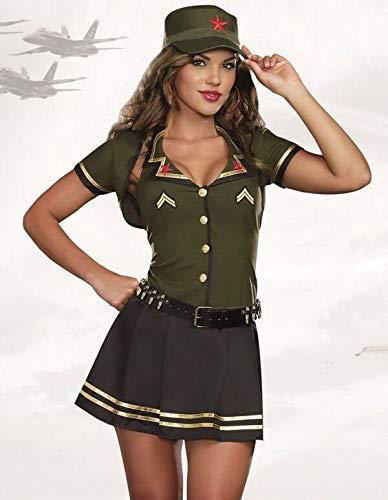 WEII Sexy Kostüm Sexy Hot Air Force Uniform Nachtclub DS Bühnenkostüm,Bild,M (Halloween-kostüme Force Air)