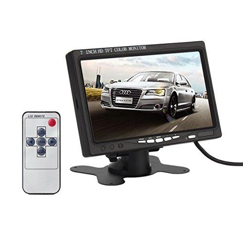 7 Zoll hohe Auflösung 800 * 480, Unterstützung 1024 * 768, TFT LCD Bildschirm Monitor mit HDMI VGA-Eingang, DVD VCR Auto Rückfahrkamera Kopfstütze Monitor + Fernbedienung + Ladegerät