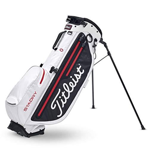 Titleist Bolsa de Palos de Golf. Players 4 + StaDry. Color Negro/Blanco/Rojo, Hombres, Talla Única