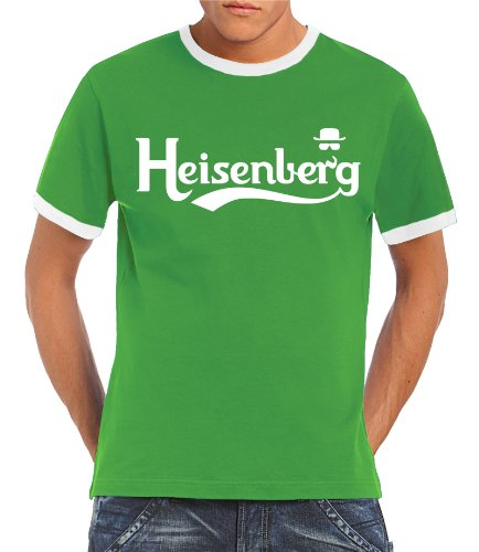 Touchlines - T-shirt, Uomo, Verde (Kelly Green/White),