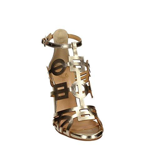 GRACE SHOES 9581 Sandalo Tacco Donna Argento