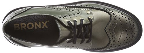 Bronx Brifka-chunkyx Damen Brogue Schnürhalbschuhe Mehrfarbig (938 Bronze/black)