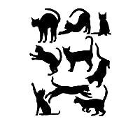 Fliyeong Cats Wall Stickers Art Decals Mural Wallpaper Decor Home Room DIY Decoration