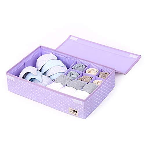 Kirsche Mit 7 Schubladen (Unterwäsche-Aufbewahrungsbox, mit 24 Fächern, überzogener Stoff, Unterwäsche, Socken, Aufbewahrungsbox, Schublade, Größe L, 7, Größe)