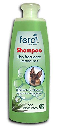 Champú para perros de uso frecuente con Aloe Vera 400ml. Champú con perfume fresco a menta 100% natural. El mejor cuidado para tu mascota.