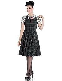 Hell Bunny Pebbles Retro grün Schottenkaro Kinderkittel Kleid
