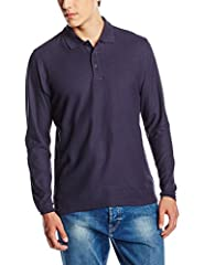 Idea Regalo - Fruit of the Loom SS037M, T-Shirt Polo Uomo, Blu (Deep Navy), X-Large