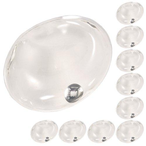 Confezione da 10 gel riutilizzabile dello scaldino della mano Heat Pack - confezioni Riscaldamento istantanea (chiaro ovale)