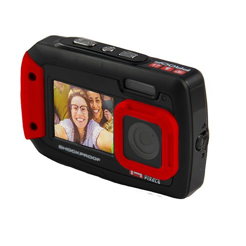 iON Cameras Selfie Kamera Cool, Black/Red, 1042