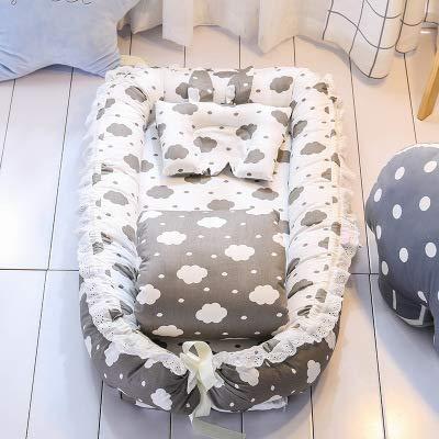 Heißer Verkauf Baby Krippe Sets Mit Quilt Kissen Reine Baumwolle Baby Nest Reise Krippe Bett Wiege Kinderbetten Für Neugeborene Tragbare Waschbar
