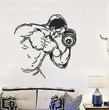 AELAHER Sport Fototapete Bodybuilding Mann Vinyl Wall Decal Gym Fitness Wandaufkleber Hantel Sport Wallpaper Gym Sport Dekor 44X42Cm