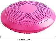 Benkeg 33CM Yoga Balance Disc Inflatable Stability Wobble Cushion Free Hand Pump