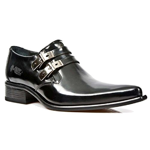 Echtes Schuhe Leder Newman Black Formal Rock Schwarz Smart Mens New PtqwgxAx