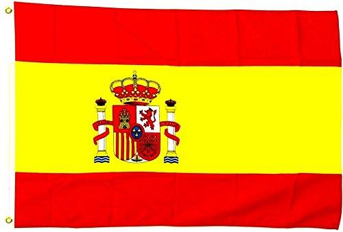 España Bandera 250x 150cm, tamaño grande, impermeable)