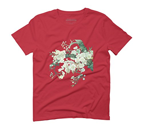 Blooming Peach Blossoms Men's Graphic T-Shirt - Design By Humans Red