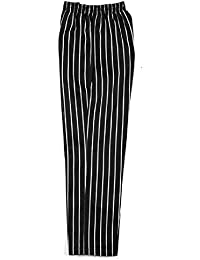 1251cc5cc0a9a Chefs Trousers Pants, Black & White Striped Bottoms INS01S