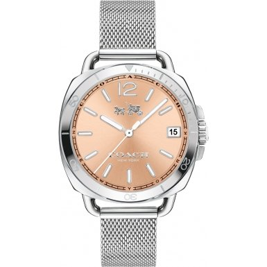 Coach 14502635 Ladies Tatum Silver Steel Mesh Bracelet Watch