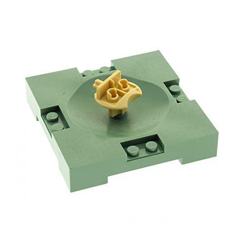 Bausteine gebraucht 1 x Lego System Sport Feld Sand grün 8 x 8 Basketball Platte Spielfeld mit Figuren Halter Sports Field 3431 43372 30492