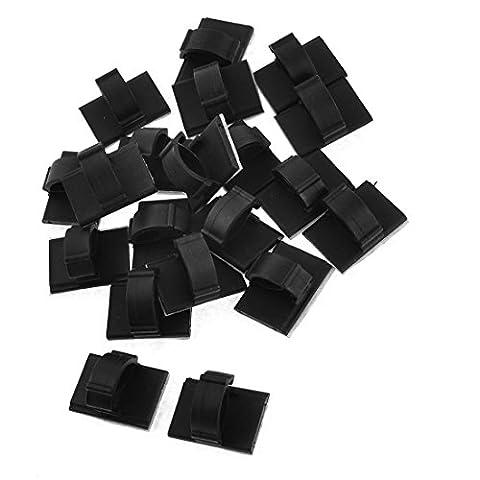 Base Support autocollant noir pour 1cm Largeur câble Liens Lot de 20