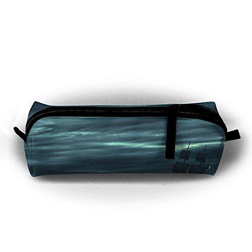 Ocean Storm - Estuche de lápices de barco pirata para estudiantes, bolsa de maquillaje con cremallera, para niños, adolescentes y otros suministros escolares